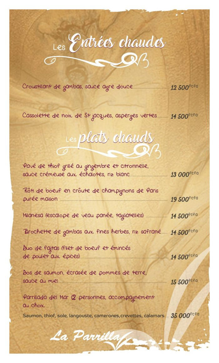 Restaurant la parilla Dakar