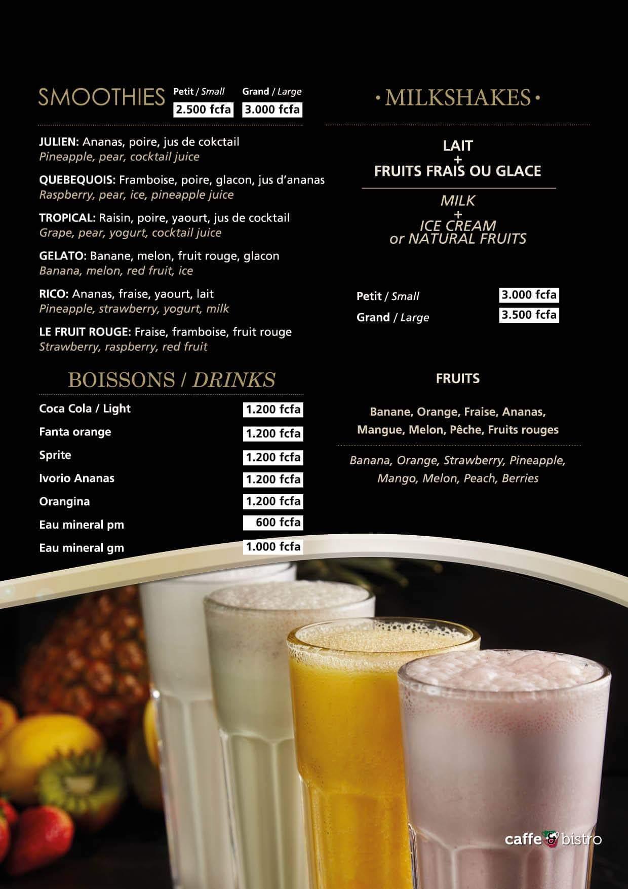 menu gelatiamo Dakar