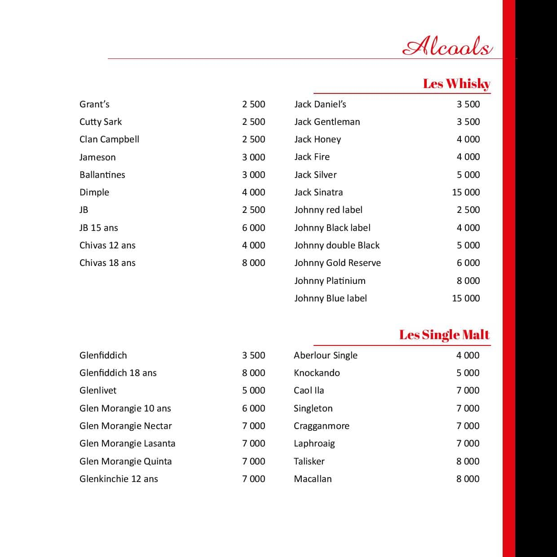 menu bazoff