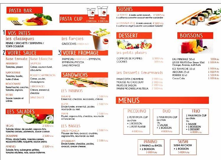 menu feel pasta