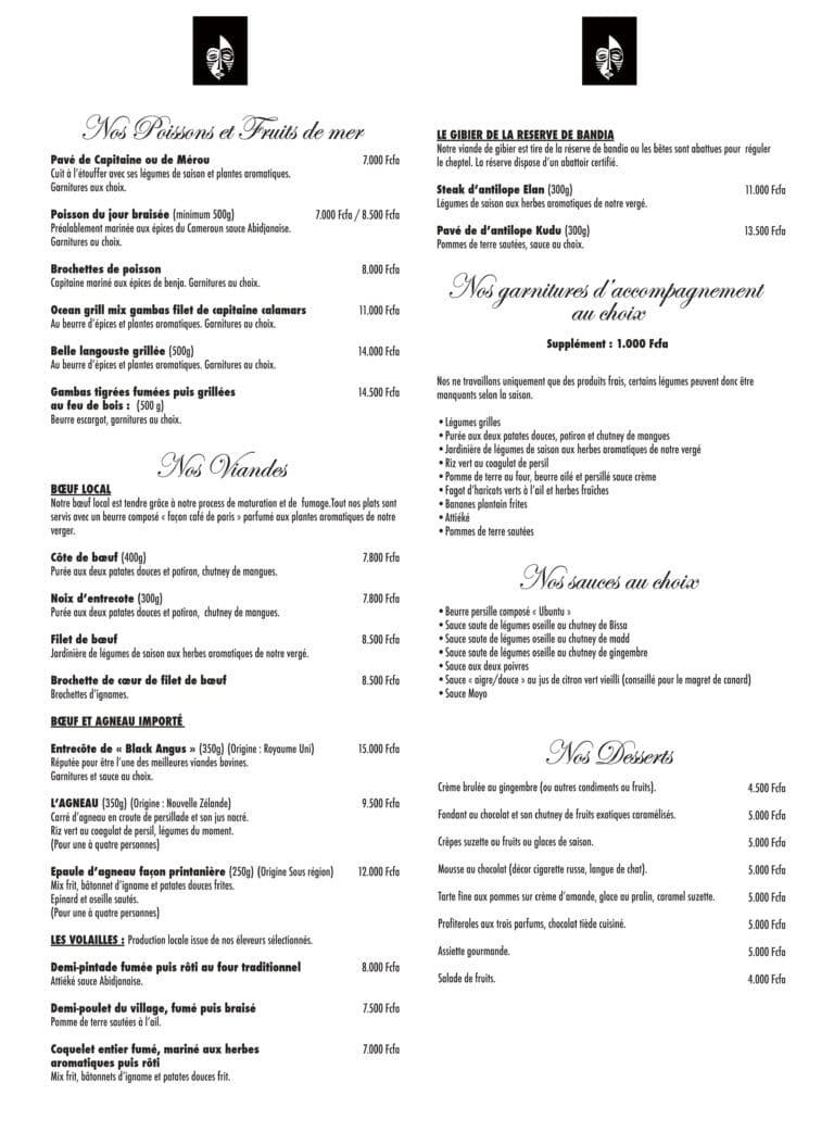 menu ubuntu restaurant