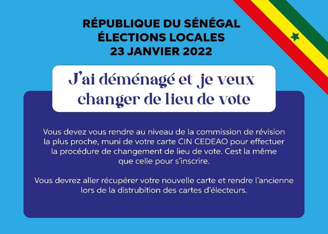 Je veux changer de lieu de vote