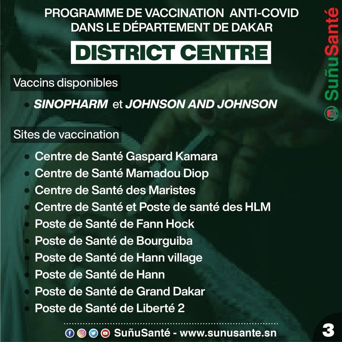 centre de vaccination covid dakar